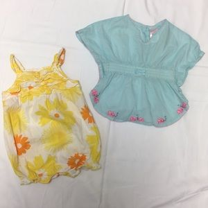 Gymboree Carter's outfit and top